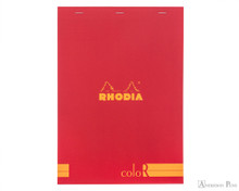 Rhodia No. 18 Premium Notepad - A4, Lined - Red
