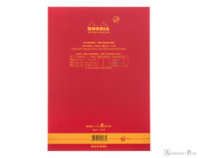 Rhodia No. 18 Premium Notepad - A4, Lined - Red back cover