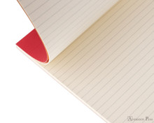 Rhodia No. 18 Premium Notepad - A4, Lined - Red open