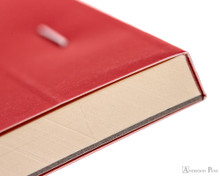 Rhodia No. 18 Premium Notepad - A4, Lined - Red binding detail