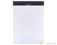 Rhodia No. 16 Staplebound Notepad - A5, Graph - Black open