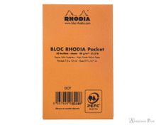 Rhodia Pocket Notepad - 3 x 4.75, Dot Grid - Orange back cover