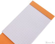 Rhodia Pocket Notepad - 3 x 4.75, Dot Grid - Orange open