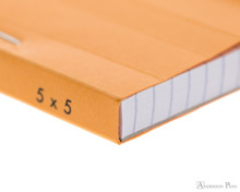 Rhodia No. 12 Staplebound Notepad - 3.375 x 4.75, Graph - Orange binding detail