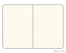 Leuchtturm1917 Softcover Notebook - A6, Dot Grid - Black open