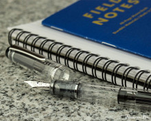 Pilot Custom Heritage 92 Fountain Pen - Clear - Open on Desk