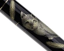 Namiki Chinkin Fountain Pen - Cat - Barrel Pattern