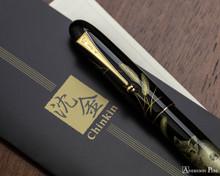 Namiki Chinkin Fountain Pen - Cat - On Notebook