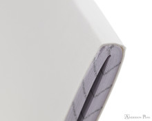 Rhodia Staplebound Notebook - A5, Graph - Ice White binding detail