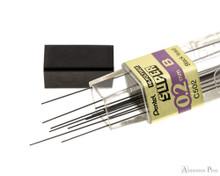 Pentel Super Hi-Polymer B Lead - 0.2mm - 12 Pieces - Open