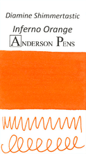 Diamine Shimmertastic Inferno Orange Ink Color Swab