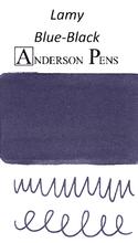 Lamy Blue-Black Ink Cartridges color swab