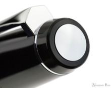 Pilot Falcon Fountain Pen - Black with Rhodium Trim - Cap Jewel