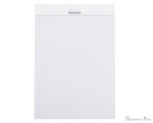 Rhodia No. 16 Staplebound Notepad - A5, Graph - Ice White open