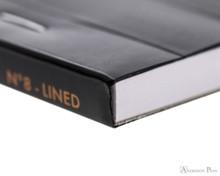 Rhodia No. 8 Staplebound Notepad - 3 x 8.25, Lined - Black binding detail