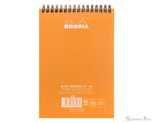Rhodia No. 16 Wirebound Notepad - A5, Dot Grid - Orange back cover