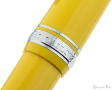Sailor Pro Gear Color Fountain Pen - Yellow with Rhodium Trim - Cap Band