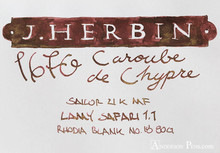 J. Herbin 1670 Anniversary Caroube de Chypre Ink ThINK Thursday additional closeup