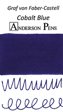 Graf von Faber-Castell Cobalt Blue Ink Sample Color Swab