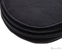 Girologio 3 Pen Zipper Case - Black Leather