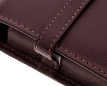 Girologio 6 Pen Case - Brown Leather - Loop and Stitching