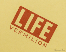 Life Vermilion Notebook - B6 (5 x 7), Graph Paper - Cover