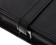 Girologio 6 Pen Case - Black Leather - Loop and Stitching