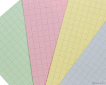 Exacompta Index Cards - 3 x 5, Graph - Assorted Colors