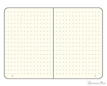 Leuchtturm1917 Notebook - A5, Dot Grid - Lemon open