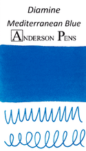 Diamine Mediterranean Blue Ink Color Swab