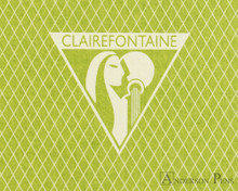 Clairefontaine 1951 Staplebound Notebook - 5.75 x 8.25, Lined - Green logo