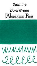 Diamine Dark Green Ink Color Swab