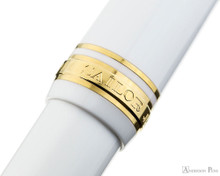 Sailor Pro Gear Slim Fountain Pen - White with Gold Trim - Cap Band