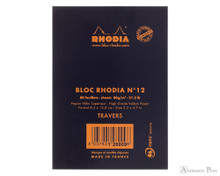 Rhodia No. 12 Staplebound Notepad - 3.375 x 4.75, Lined - Black back cover