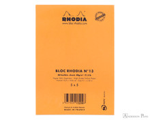 Rhodia No. 13 Staplebound Notepad - A6, Graph - Orange back cover