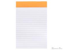 Rhodia No. 14 Staplebound Notepad - 4.375 x 6.375, Lined - Orange open