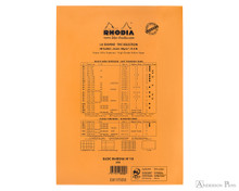 Rhodia No. 18 Staplebound Notepad - A4, Blank - Orange back cover