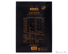 Rhodia No. 18 Staplebound Notepad - A4, Blank - Black back cover