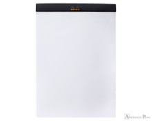 Rhodia No. 18 Staplebound Notepad - A4, Blank - Black open