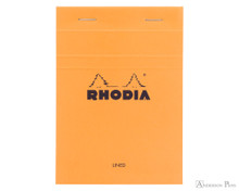 Rhodia No. 13 Staplebound Notepad - A6, Lined - Orange