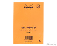 Rhodia No. 13 Staplebound Notepad - A6, Lined - Orange back cover