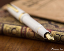 Sailor 1911 Large Fountain Pen - White with Gold Trim - Posted on Notebook