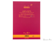 Rhodia No. 18 Premium Notepad - A4, Lined - Raspberry back cover