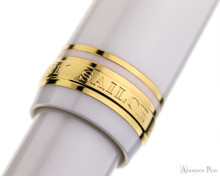 Sailor 1911 Large Ballpoint - White with Gold Trim - Cap Band