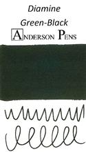 Diamine Green-Black Ink Color Swab