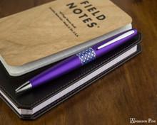 Pilot Metropolitan Ballpoint - Retro Pop Purple - On Notebook