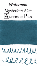 Waterman Mysterious Blue Ink Long Cartridges (8 Pack) color swab
