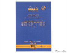 Rhodia No. 18 Premium Notepad - A4, Lined - Sapphire back cover