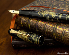 Namiki Chinkin Fountain Pen - Rooster - Open on Paperblanks