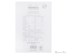 Rhodia Ice No. 16 Notepad - 6 x 8.25, Lined Paper - White - Back Cover